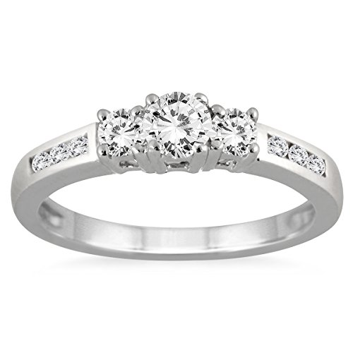 ags-certified-1-2-carat-tw-diamond-three-stone-ring-in-10k-white-gold-k-l-color-i2-i3-clarity