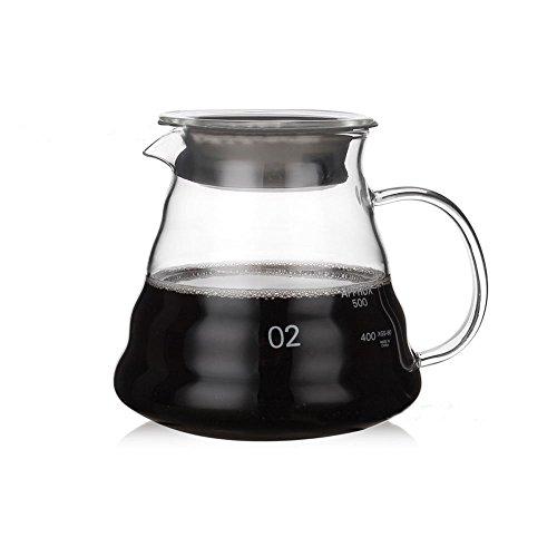 Dealglad Heat Resistant Glass Hand Drip Coffee Pot Coffee Server Kettle Coffee Maker Teapot (600ml)