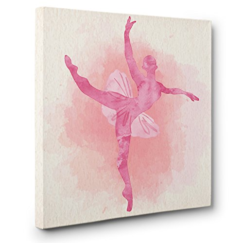 Silhouette Watercolor Ballerina CANVAS Wall Art Home Décor by Paper Blast