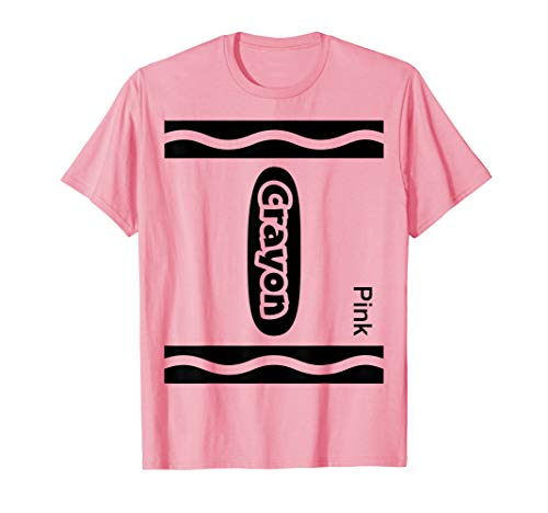 Halloween Pink Crayon Costume Funny T-Shirt