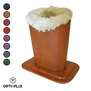Eyeglasses holder Stand Case, Plush Lined Protective Glasses Case For Desks Or Nightstands, Champagne- By OptiPlix
