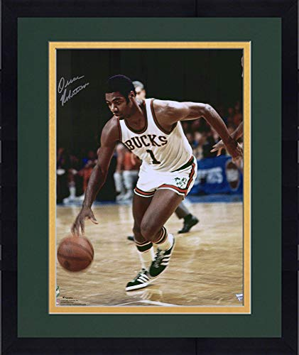 Framed Oscar Robertson Milwaukee Bucks Autographed 16