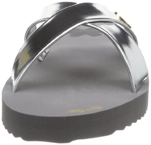 flip*flop original cross metallic 30155 - Zuecos para mujer, color varios colores, talla 38 Varios colores (Mehrfarbig (steel 017))