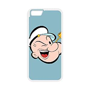 iPhone 6 Plus 5.5 Inch Cell Phone Case White Popeye the sailor 003 SYj_781099