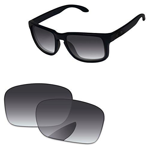 PapaViva Replacement Lenses for Oakley Holbrook Grey Gradient - - Gradient Grey
