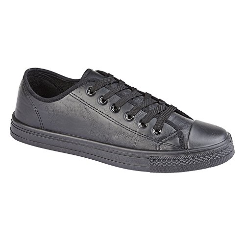 Dek Mens/Womens Lace Shell Toe Casual Shoes Black cjQyTnKa
