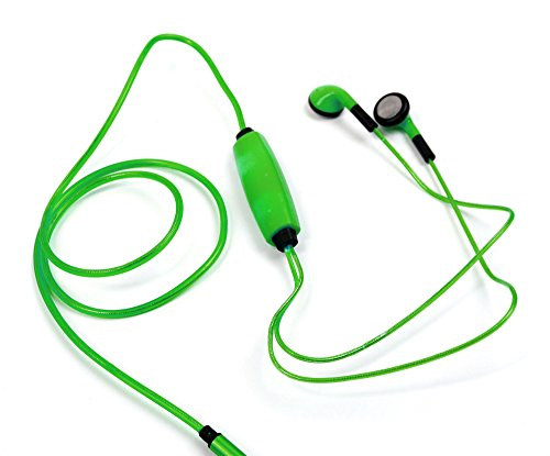 """DURAGADGET Novelty LED Flashing Earphones - Stylish Vibrant 'Glow in the Dark' Neon Light-Up Rechargeable Earphones in Dazzling Green for FABTAB Q10.1, BTC Flame & D2D 7"""" Tablet PC Quad Core,Google Android 4.4 Kitkat, Allwinner A33 from DURAGADGET"""
