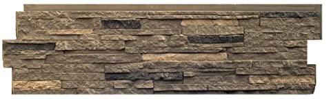NextStone Stacked Stone Panel Volcanic Gray 5 Pack - Faux Stone Siding