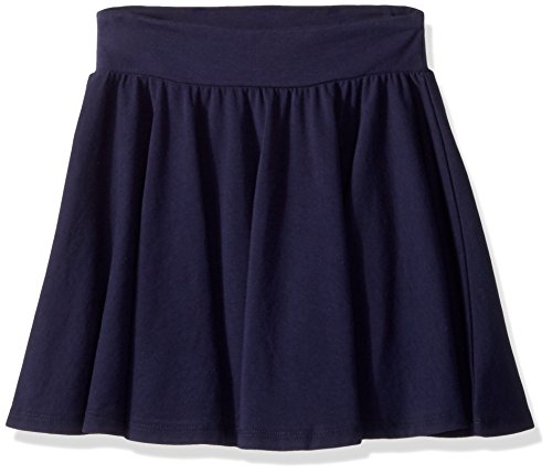 Cotton Circle Skirt (Splendid Girls' Big Twirly Skirt, Navy, 7/8)