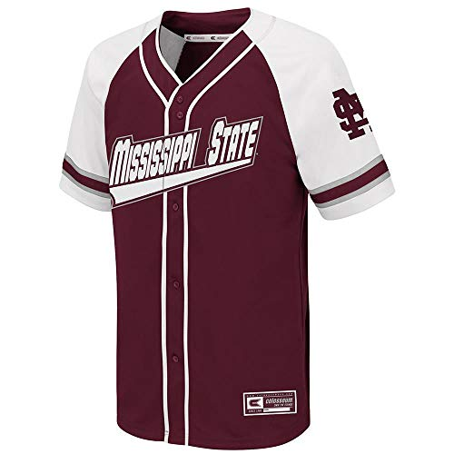 - Colosseum Youth Mississippi State Bulldogs Wallis Baseball Jersey - S