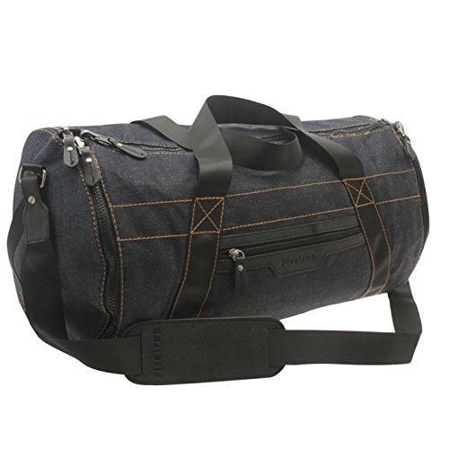 Firetrap 4in1bolsa vaquera azul barril/bolso/bolsa/bolsa de hombro, azul, H: 28cm; W: 50cm; D: 28cm.