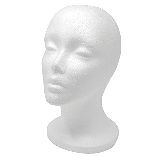 A1 Pacific Female Styrofoam Mannequin Head, 11