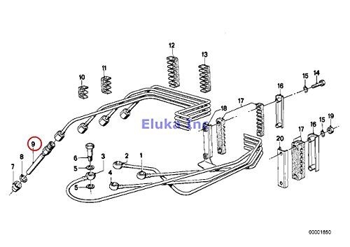 K-jetronic Fuel Injection (4 x BMW Genuine FUEL INJECTION K-JETRONIC Injection Valve 320i)
