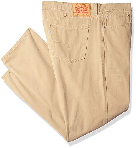 Levi's Men's Big & Tall 502 Regular Taper Pant, Harvest Gold/warp Stretch, 48W x 32L -