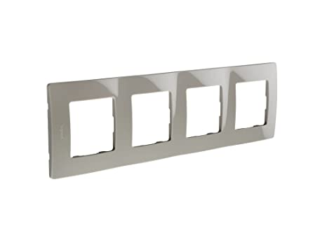 Legrand 397883 Marco Simple para 4 Interruptores, Gris