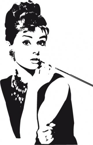 Audrey Hepburn Wandtattoo Amazonde Kuche Haushalt