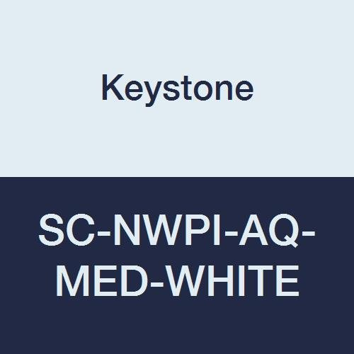 Keystone SC-NWPI-AQ-MED-WHITE Laminated Polypropylene, Non Skid AQ Sole Shoe Cover, Water Resistant, Medium, White (Pack of 200) by Keystone