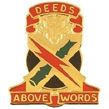 108th Air Defense Artillery Group Unit Crest (Deeds Above Words)