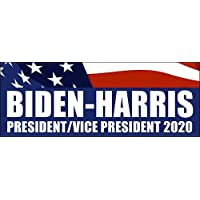 American Vinyl Biden Harris 2020 President Vice Bumper Sticker (Vote 20 Democrat Joe Kamala)…
