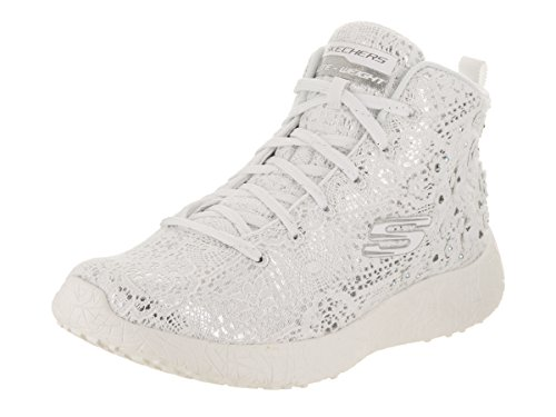 Skechers Burst Seeing Stars High Top Mujer US 7.5 Blanco Zapatillas