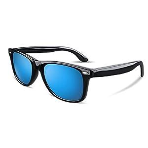 FEISEDY Great Classic Polarized Sunglasses Men Women Mirrored Blue Lens B1858