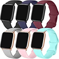 ATUP Compatible with for Apple Watch Band 38mm 40mm 42mm 44mm Women Men, Soft Silicone Replacement Bands Strap for iWatch...