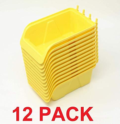 (WallPeg Pegboard Bin Kit - Pegboard Parts Storage Craft Organizer Tool Peg Board Workbench Bins Accessories PICK A PACK LARGE (12))