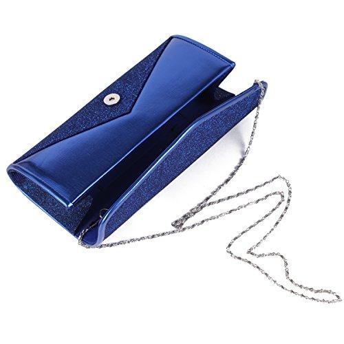 Damara Womens Cluth Handbag Bridal Large Blue Sparkling Wedding Glitters rrCgR6wq