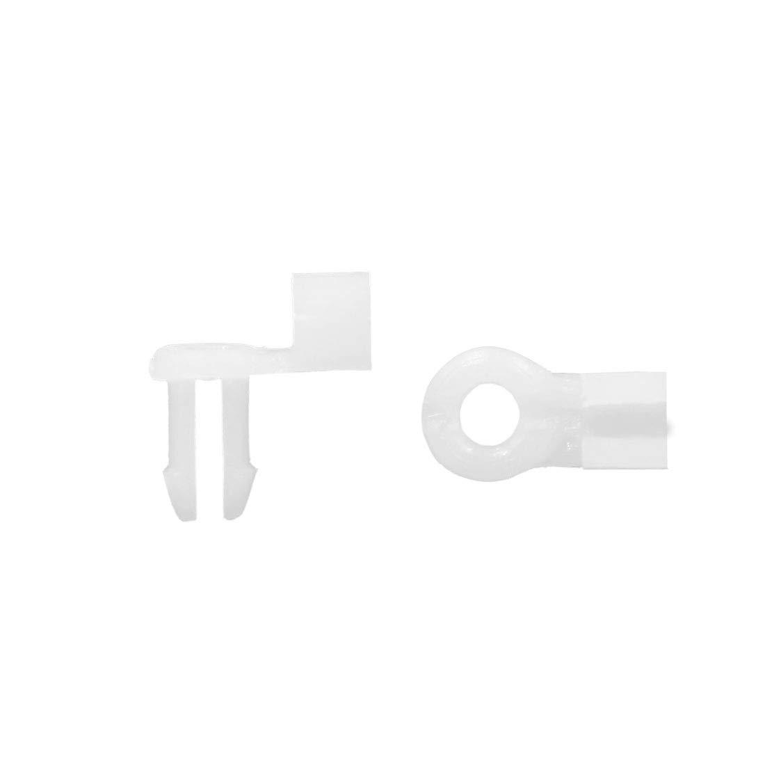 Sourcingmap/® 50pz Bianco Rivetti di Fissaggio in plastica Paraurti Clip a Spinta 7 x 8mm per Macchine
