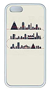 Simple Lovely Cartoon City - iPhone 5S Case Funny Lovely Best Cool Customize White Cover