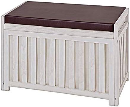 Haku Möbel 26820 Bench, 65 x 33 x 46 cm, weiß gewischt, 65 x 33 x 46 cm