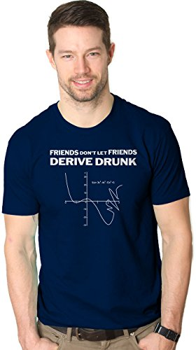 Don't Drink And Derive T Shirt Funny Math Major Tee L