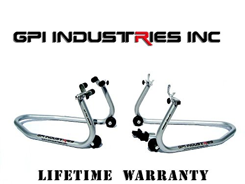 SUZUKI GSXR600 GSXR750 GSXR1000 Universal Front and Rear Motorcycle Sportbike Paddock Race Stands Lifts by GPI Industries