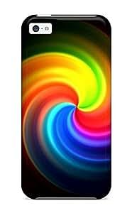 For Iphone 5c Fashion Design Nice Rainbow Circle Case-DDdvMnk3900usEmP