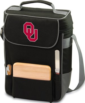 NCAA Oklahoma Sooners Duet Insulated Wine and Cheese Tote with Team Logo