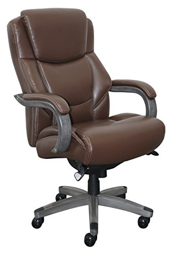 La Z Boy CHR10045C Delano Executive Office Chair, Big and Tall, Brown and (La Z-boy Leather Arm Chair)
