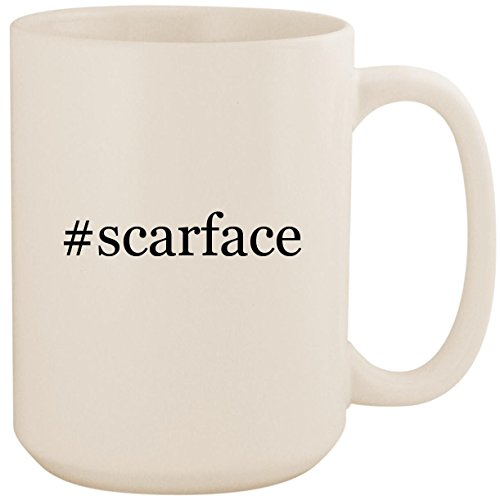 #scarface - White Hashtag 15oz Ceramic Coffee Mug Cup (Scarface Xbox Original)