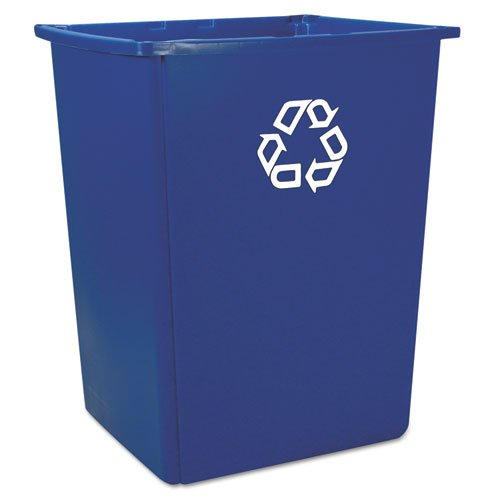 RCP256B73BLU Glutton Recycling Container, Rectangular, 56 gal, Blue