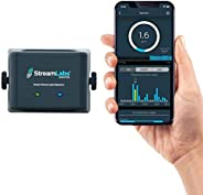 StreamLabs Smart Home Water Monitor Leak Detector with Wi-Fi – No Pipe Cutting, 5-Minute Install, Real-Time Ph