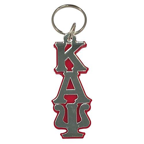 Kappa Alpha Psi #LLKM Acrylic Large Mirrored Letter Decorative Keychain Nupe
