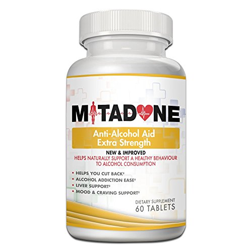 Mitadone Anti Alcohol Aid Multi Vitamin Program to Help Eliminate Cravings, Symptoms & Helps You Cut Back or Quit (60 count)