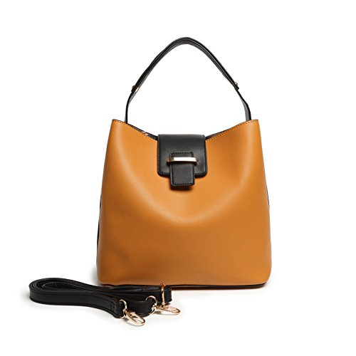 (Satispac Women's Simple Point Buckle Handbag (Camel))