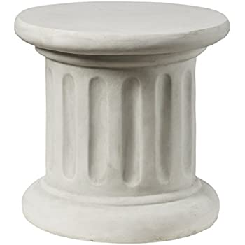Design toscano roman corinthian capital for Fluted pedestal base
