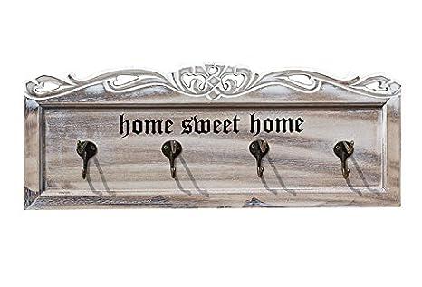 e-meoly Vintage entrada de madera ganchos montado en la ...