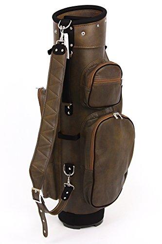 ツェラーゴルフ キャディバッグ 8.5インチ対応 ton-8ziegenleder-34 ブラウン×ブラック ヤギ革の商品画像