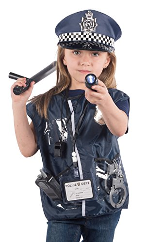 12 Pcs Police Costume for kids with Toy Role Play Kit with Bag Included - Toy Guns For Costumes