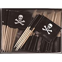 Pirate Jolly Roger Toothpick Flag Cupcake Toppers *Set of 20*