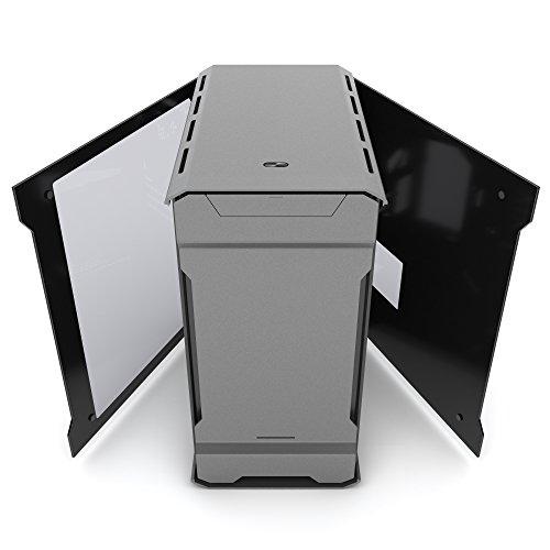 Phanteks PH-ES314ETG_BK EVOLV mATX Tempered Glass Edition Aluminum Exterior RGB LED Illumination Micro Tower Case Satin Black PH-ES314ETG_AG