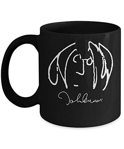 John Lennon (Self Portrait) Mug (Black) 11oz John Lennon Mug - John Lennon Coffee Mug - John Lennon Gifts - Beatles Mug - Beatles Coffee Mug - Beatles