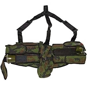 CORE 4 Plus 1 Paintball Harness with Suspenders - Camo